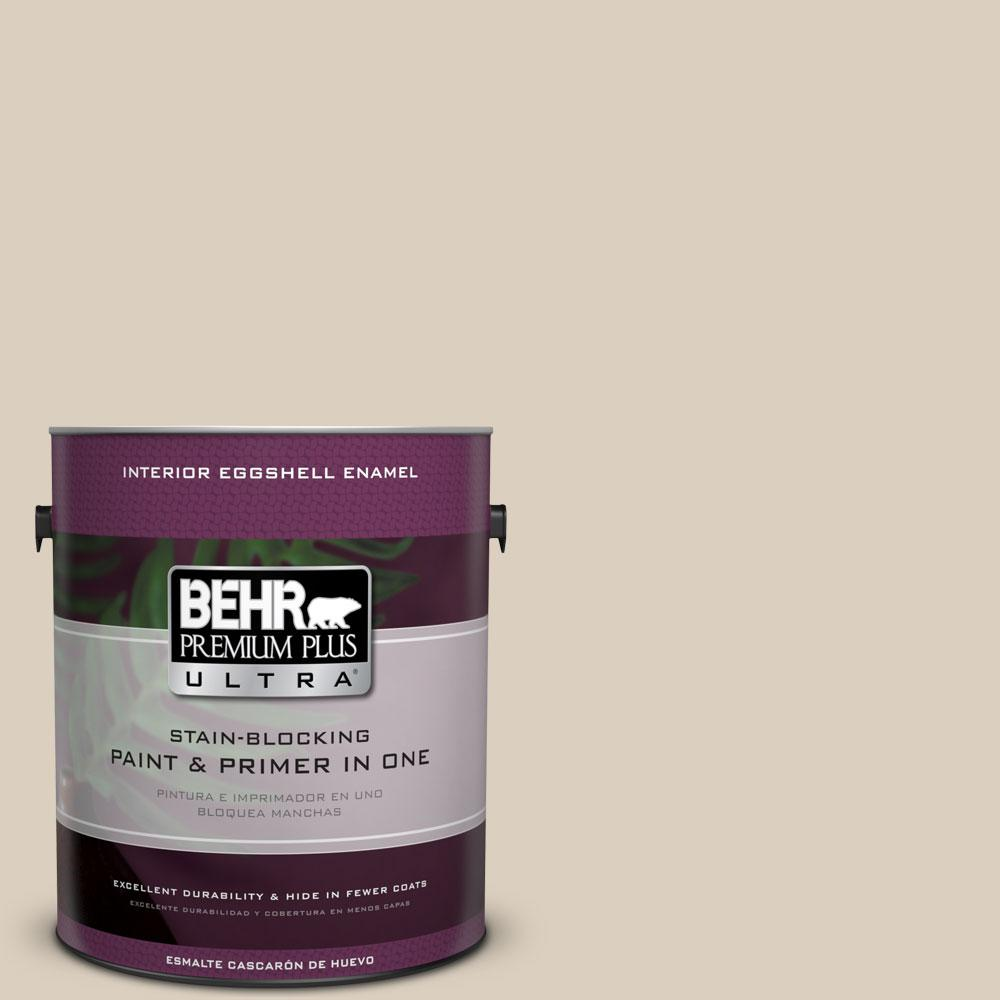 1 gal. #BWC-25 Sandy Clay Eggshell Enamel Interior Paint and Primer