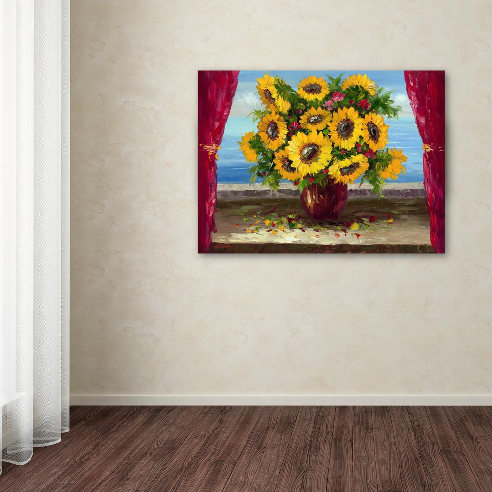 """24 in. x 32 in. """"Sunflowers by the Window"""" by Antonio"""