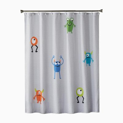 Monsters 72 in. Multi Shower Curtain