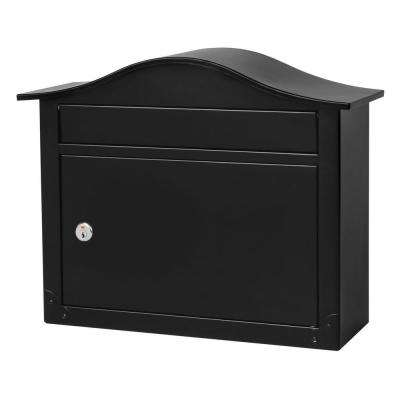 Saratoga Black Wall-Mount Lockable Mailbox