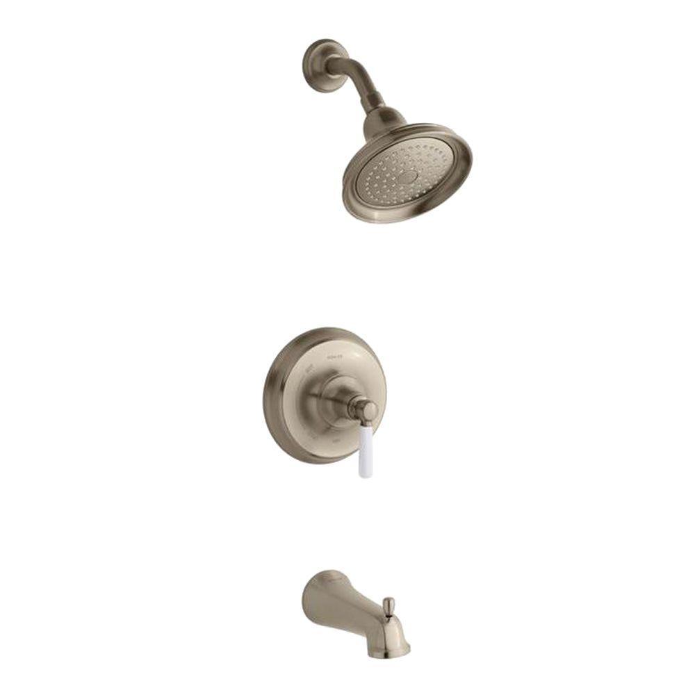 KOHLER Rite-Temp 1-Handle Pressure-Balancing Tub and Shower Faucet ...