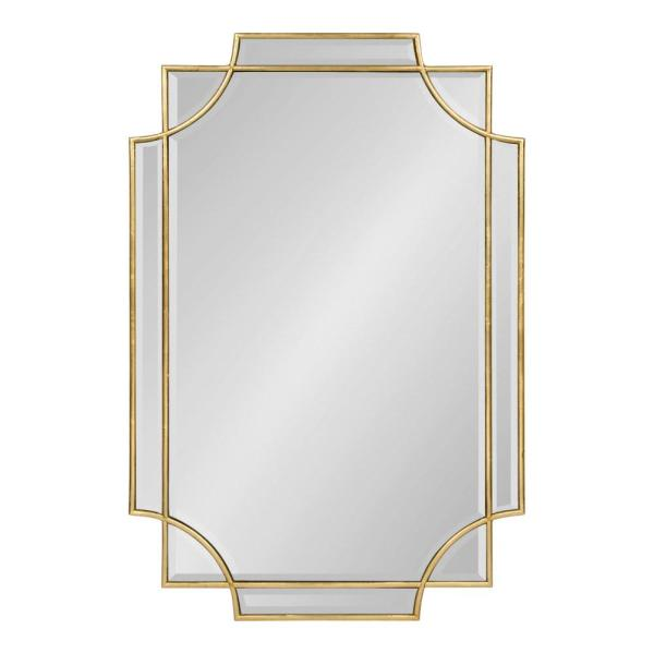 Kate And Laurel Medium Rectangle Gold Contemporary Mirror 35 4 In H X 23 6 In W 213674 The Home Depot