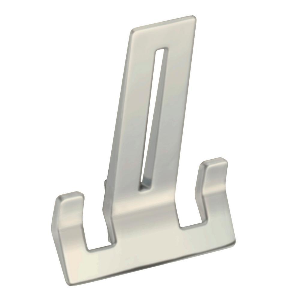 Z234 Series 4-1/16 in. L Satin Nickel Wall Hook