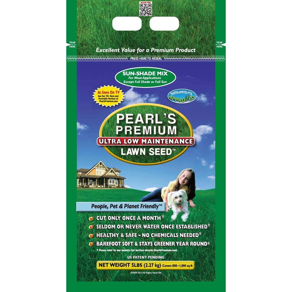 Pearls Premium 5 lb. Sun-Shade Mix Lawn Seed-DISCONTINUED