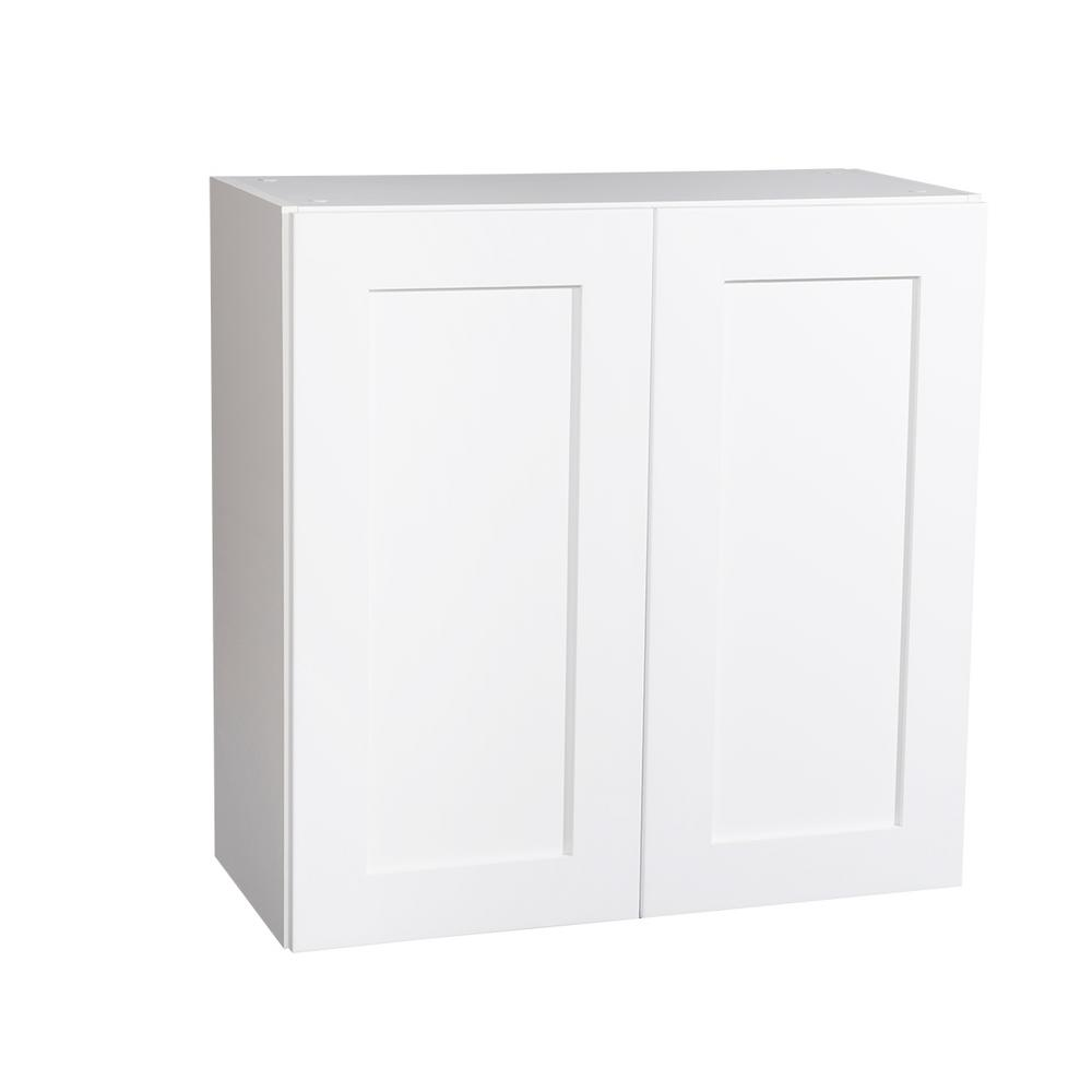 Genial Krosswood Doors Ready To Assemble 27x30x13 In. Shaker 2 Door Wall Cabinet  In White With