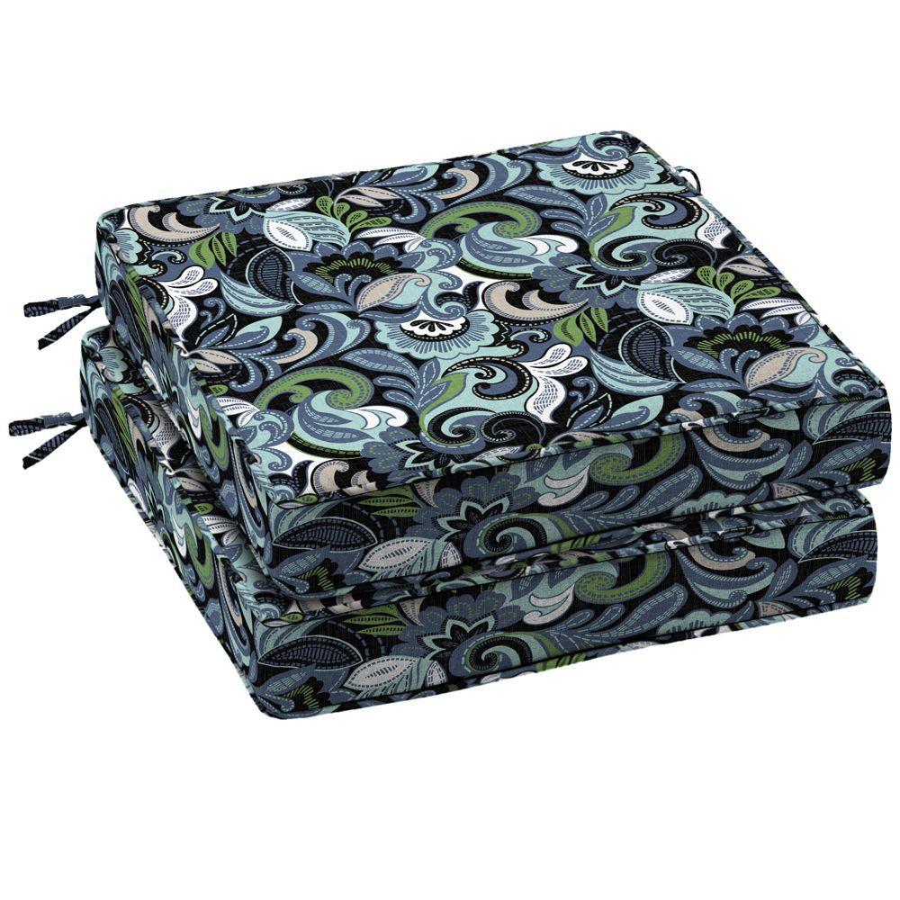Arden Ismir Multi Twilight Outdoor Seat Cushion 2 Pack-DISCONTINUED