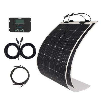 350-Watt Flexible Monocrystalline Solar Panel Kit with 40 Amp Rover Elite MPPT Charge Controller