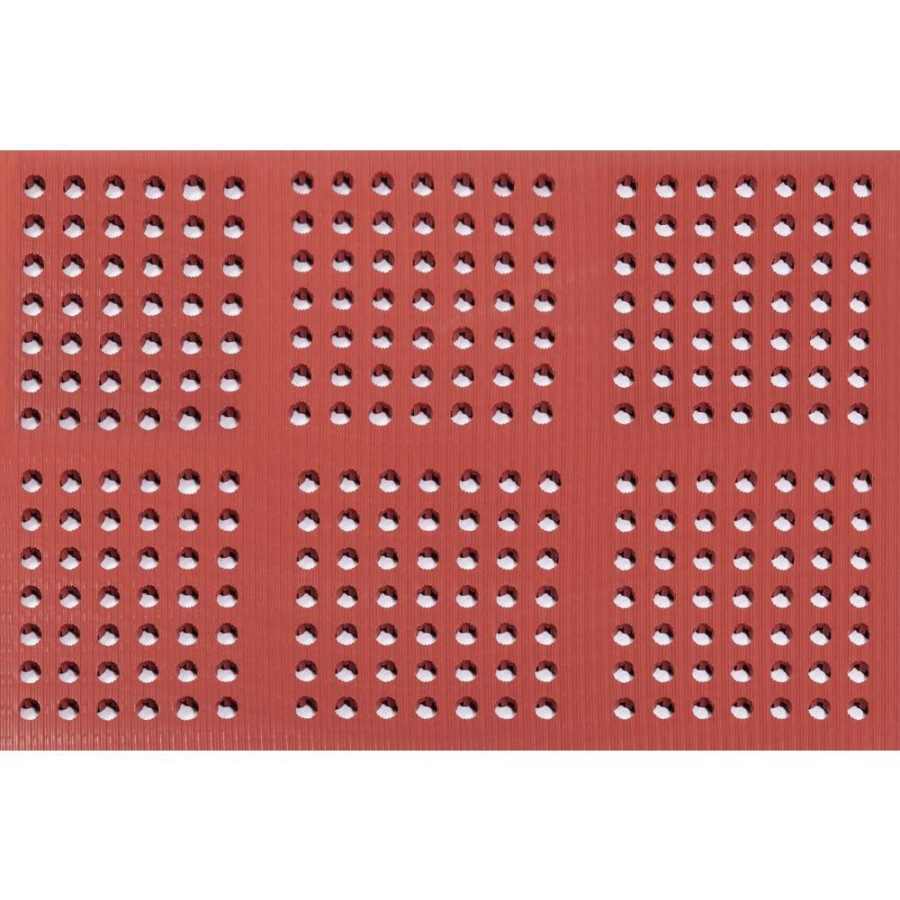 ES Robbins Pro-Lite Terracotta 36 in. x 240 in. Rubber/Vinyl Blend Lightweight Drain Mat
