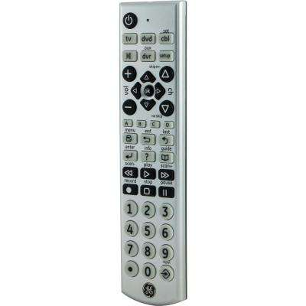 4-Device Remote Control Universal Silver