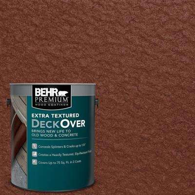 1 gal. #SC-118 Terra Cotta Extra Textured Solid Color Exterior Wood and Concrete Coating