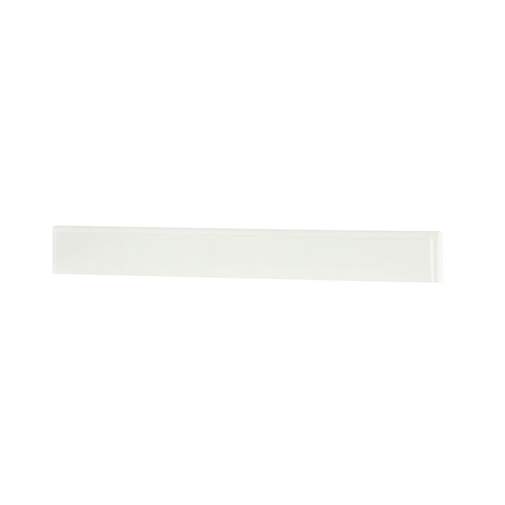 Hampton Harbor 28 in. Marble Backsplash in White