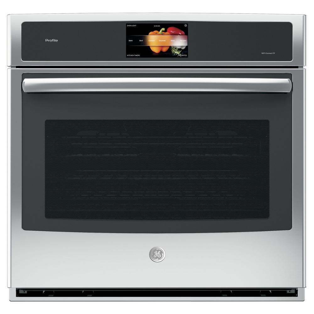 Profile 30 in. Single Electric Wall Oven with Self-Cleaning Convection in