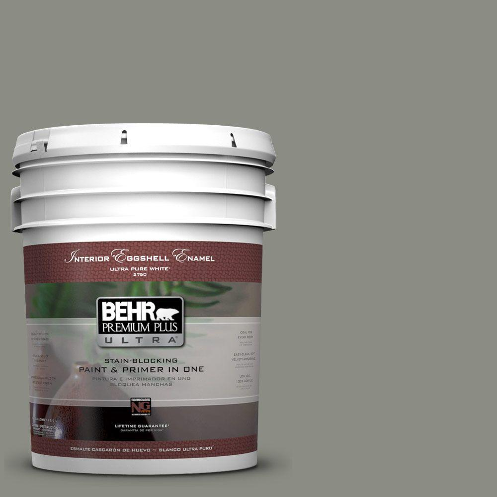 BEHR Premium Plus Ultra 5-gal. #N380-5 Naturalist Gray Eggshell Enamel Interior Paint