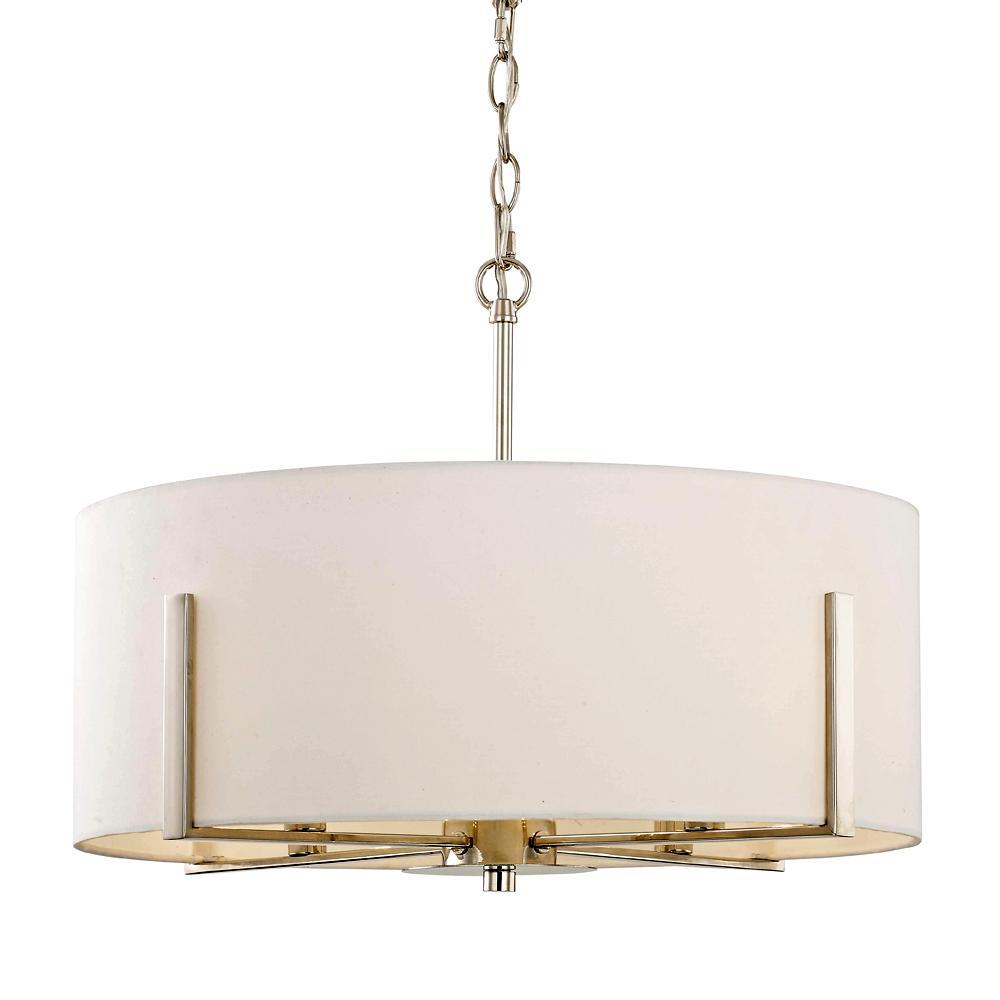 premium selection ce0c0 d06d0 Fifth and Main Lighting Manhattan 4-Light Polished Nickel Drum Pendant