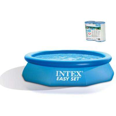 Intex 10 ft. x 30 in. Easy Set Above Ground Swimming Pool with 330 GPH Filter Pump
