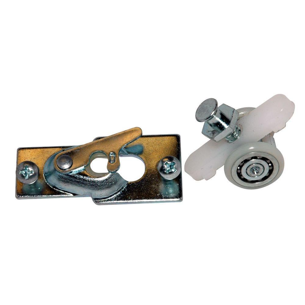 Barton Kramer By Pass Chrome 2 Wheel Closet Door Hanger Set 10707