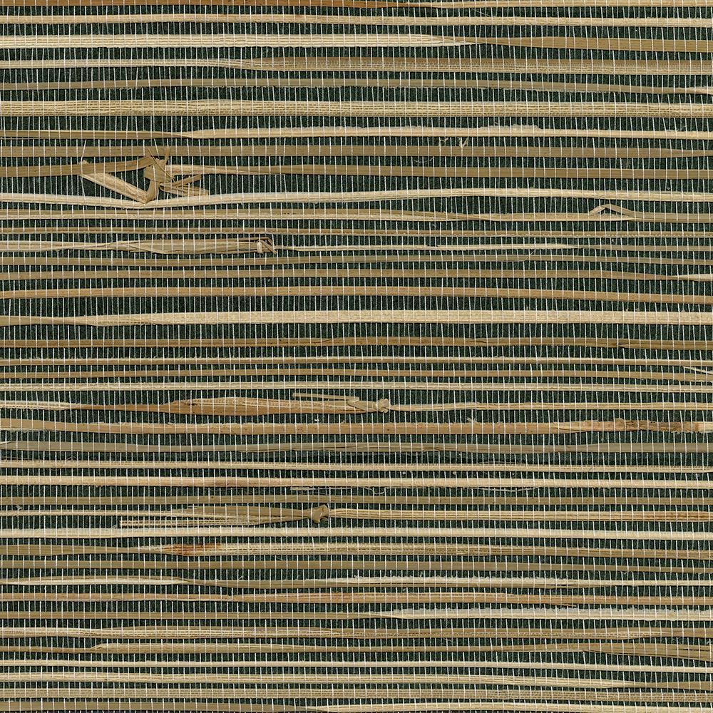 8 in. x 10 in. Anhui Black Grass Cloth Wallpaper Sample