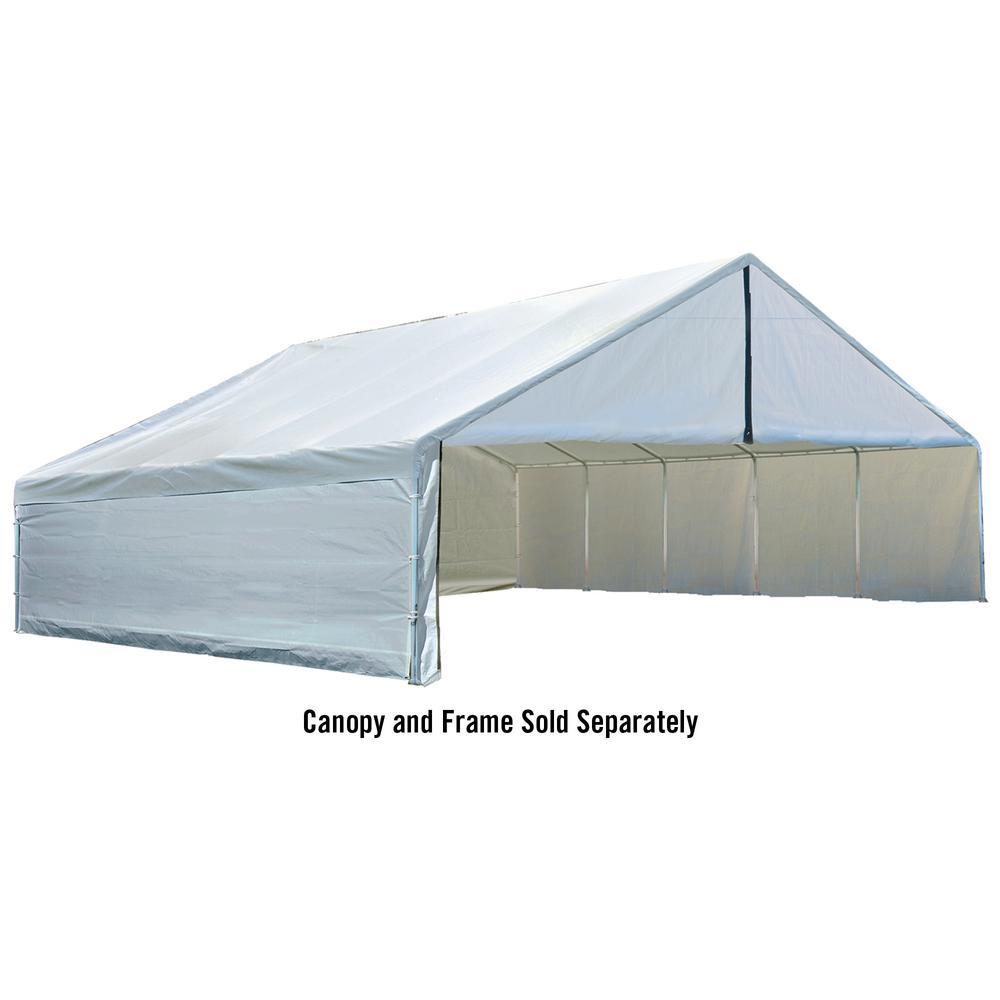 ShelterLogic Enclosure Kit for Ultra Max 30 ft. x 40 ft. White ...