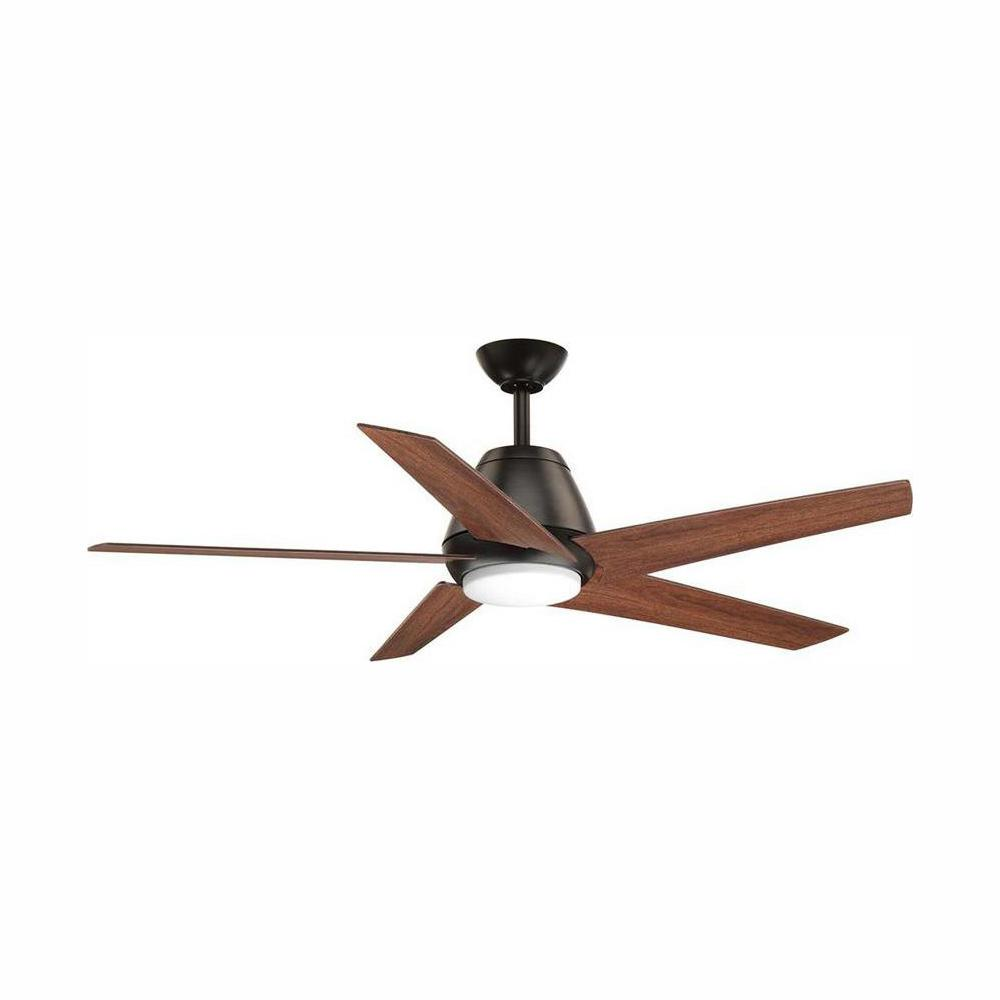 Progress Lighting Gust Collection 54 in. LED Antique Bronze Ceiling Fan