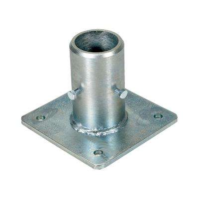 5 in. x 5 in. x 4 in. Steel Single Socket Safety Railing Pipe Option