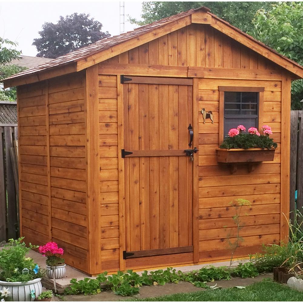 8 ft. x 8 ft. Western Red Cedar Gardener Shed