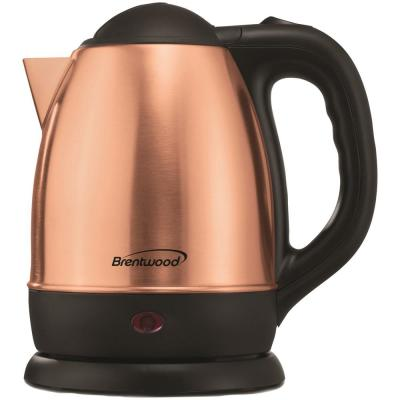 5-Cup Rose Gold Cordless Electric Kettle