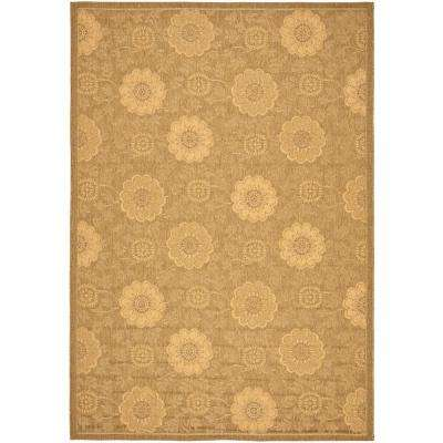 Courtyard Gold/Natural 5 ft. x 8 ft. Indoor/Outdoor Area Rug