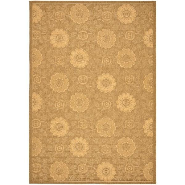 Courtyard Gold/Natural 8 ft. x 11 ft. Indoor/Outdoor Area Rug