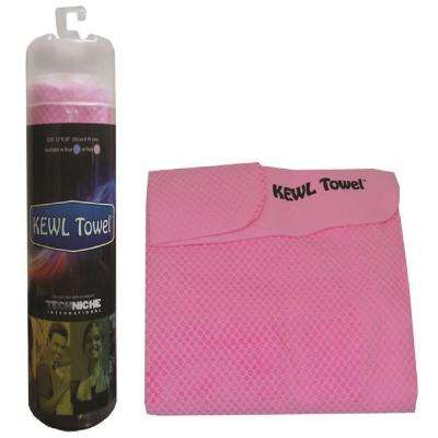 12 in. x 28 in. Evaporative Cooling Towel, Pink