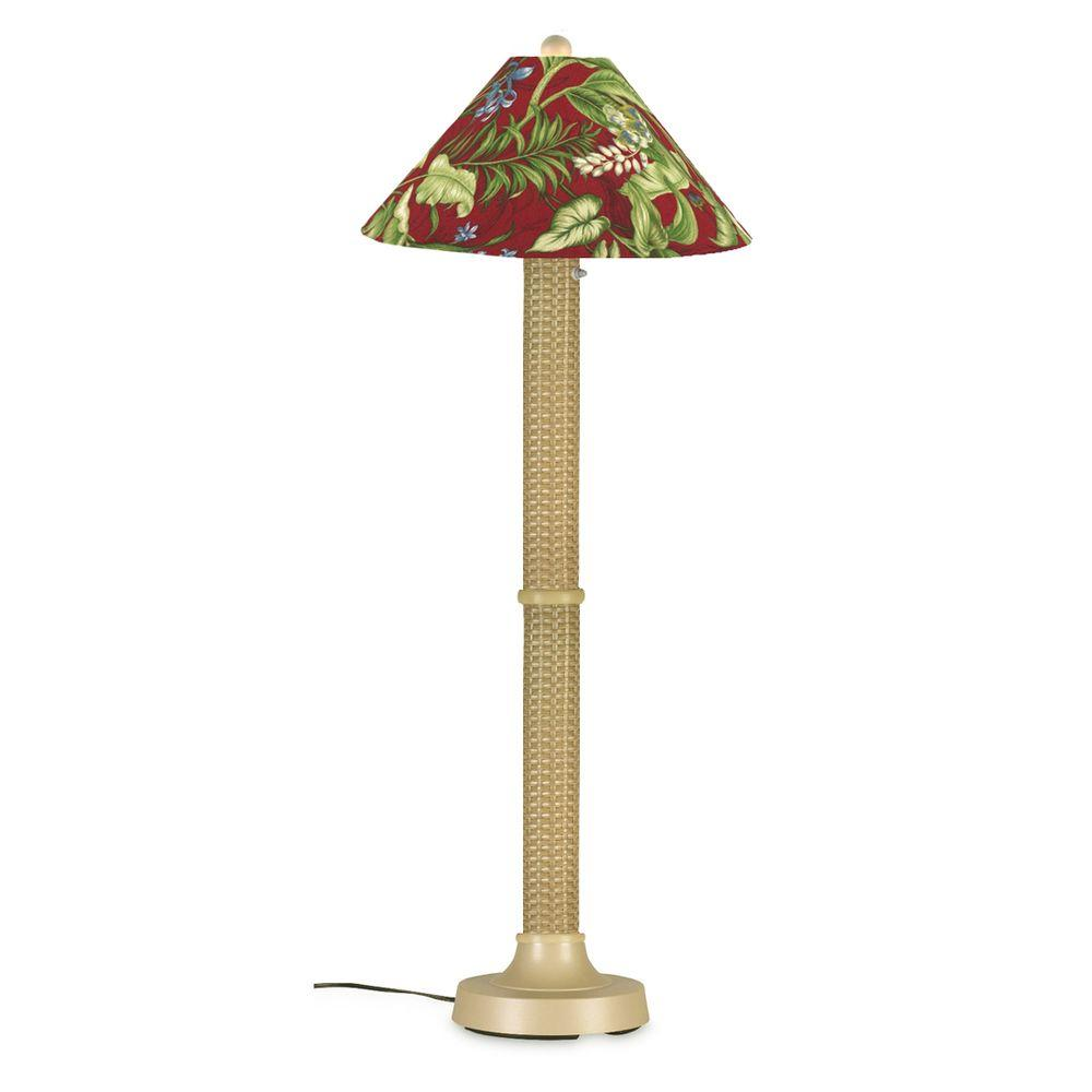 Patio Living Concepts Bahama Weave 60 in. Mojavi Floor Lamp with Lacquer Shade