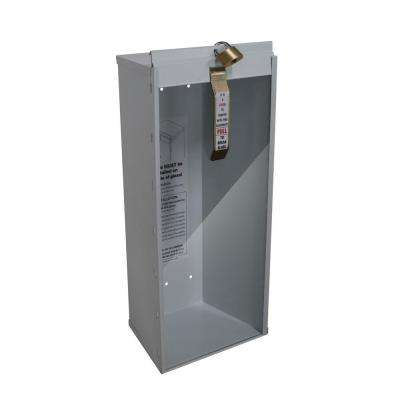 18.86 in. H x 8.11 in. W x 6.0 in. D 5 lbs. Steel Industrial Grade Fire Extinguisher Cabinet in White
