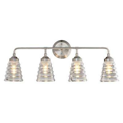 Amherst 4-Light Brushed Nickel Bath Light