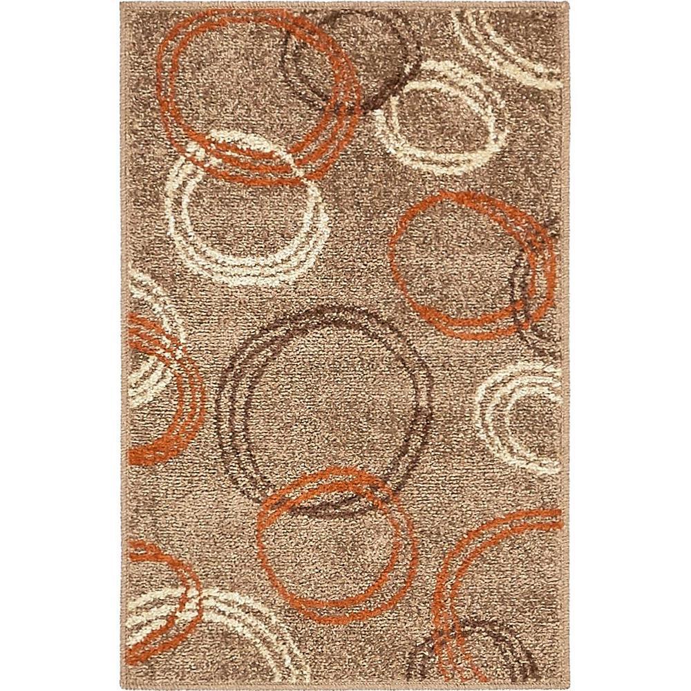 Unique Loom Autumn Cornucopia Light Brown 2 0 X 3 0 Area Rug 3138199 The Home Depot