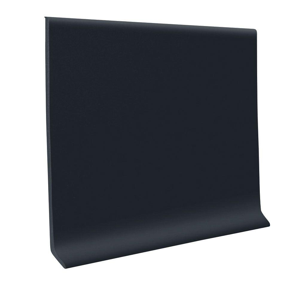 ROPPE Vinyl Laminate Black 4 in. x 0.080 in. x 48 in. Wall Cove Base (16-Pieces)