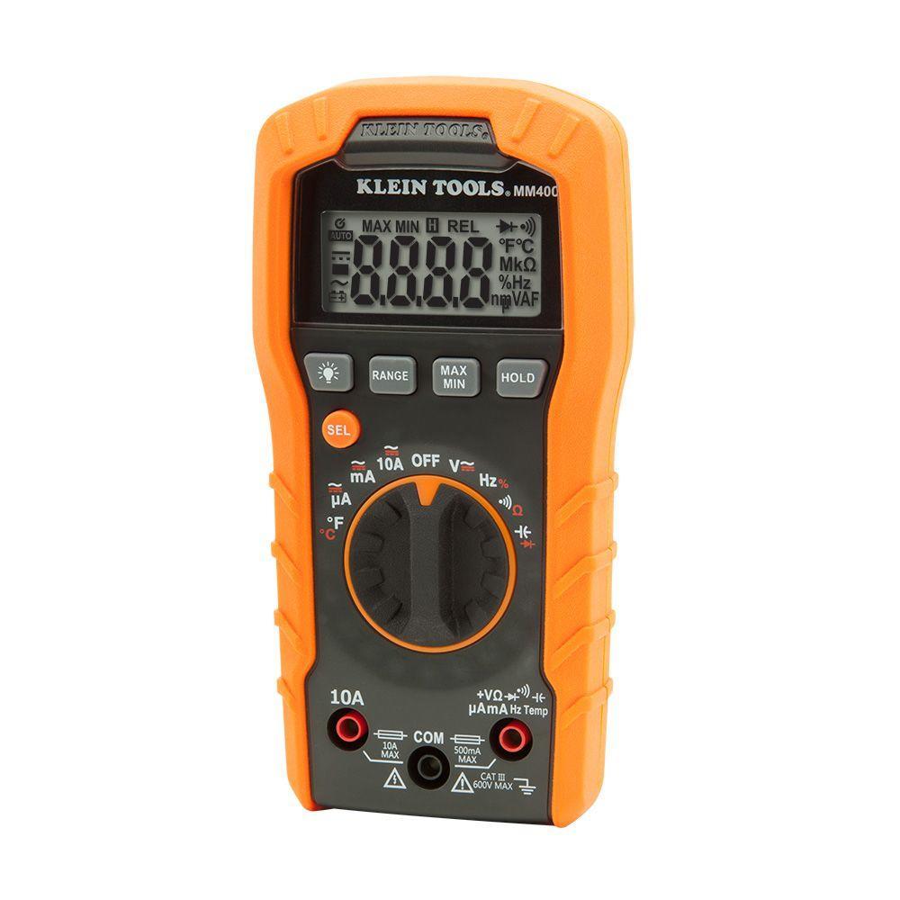 Klein Tools 600v Auto Ranging Digital Multimeter Mm400