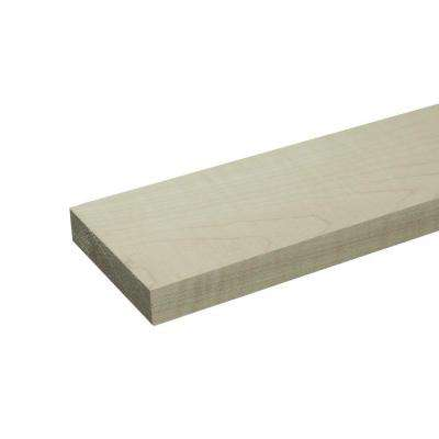 1 in. x 3 in. x 8 ft. S4S Maple Board (4-Piece/Bundle)