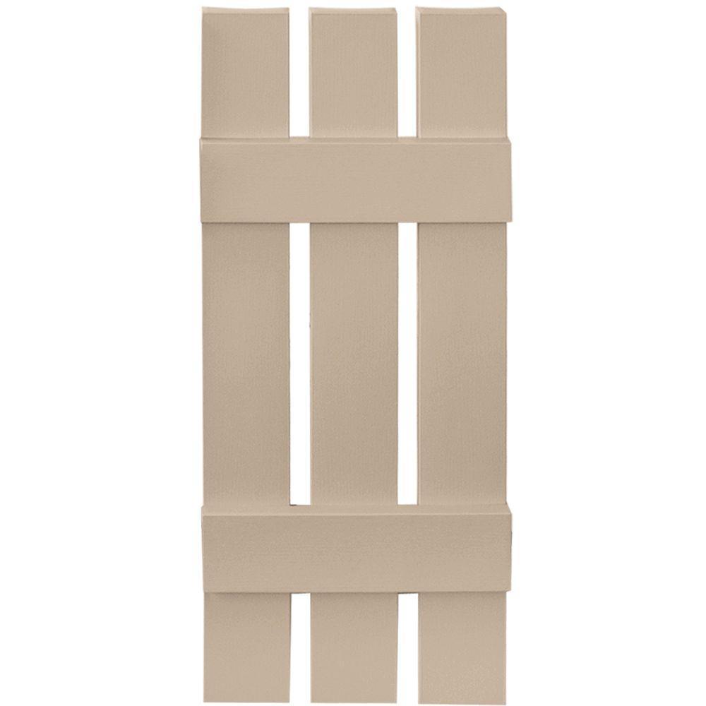 Builders Edge 12 in. x 31 in. Board-N-Batten Shutters Pair, 3 ...