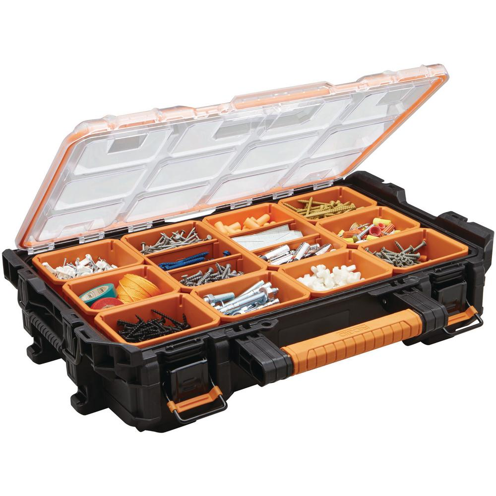 Ridgid Pro System Gear 10 Compartment Small Parts Organizer 238093 The Home Depot