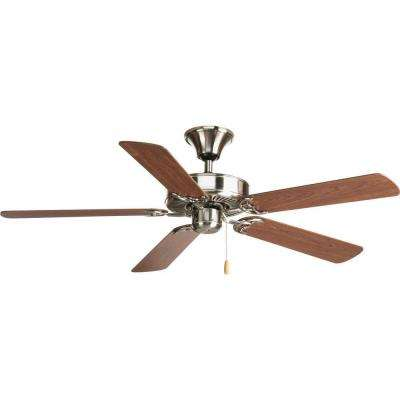 AirPro Builder 52 in. Indoor Brushed Nickel Classic Ceiling Fan