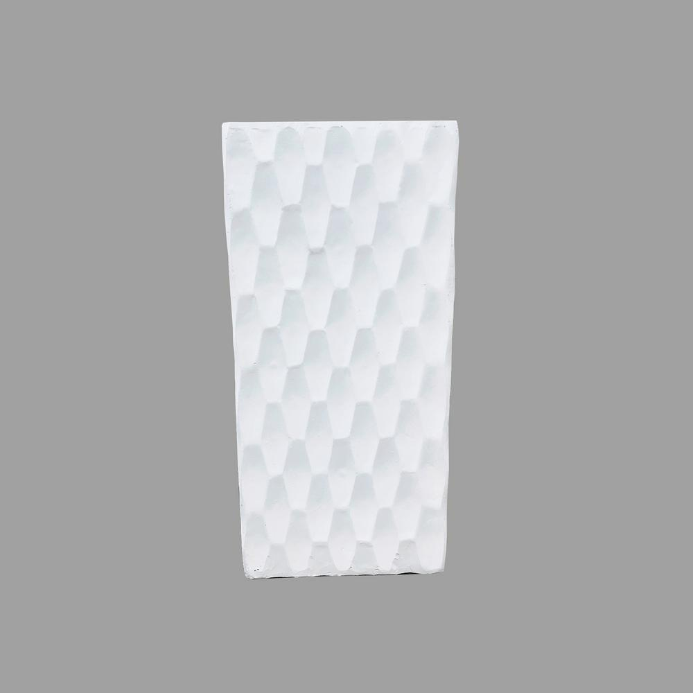 KANTE Large 27.6 in. Tall Pure White Lightweight Concrete Retro Tall Rectangle Outdoor Planter