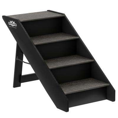 Brown 4-Step Folding Pet Stairs
