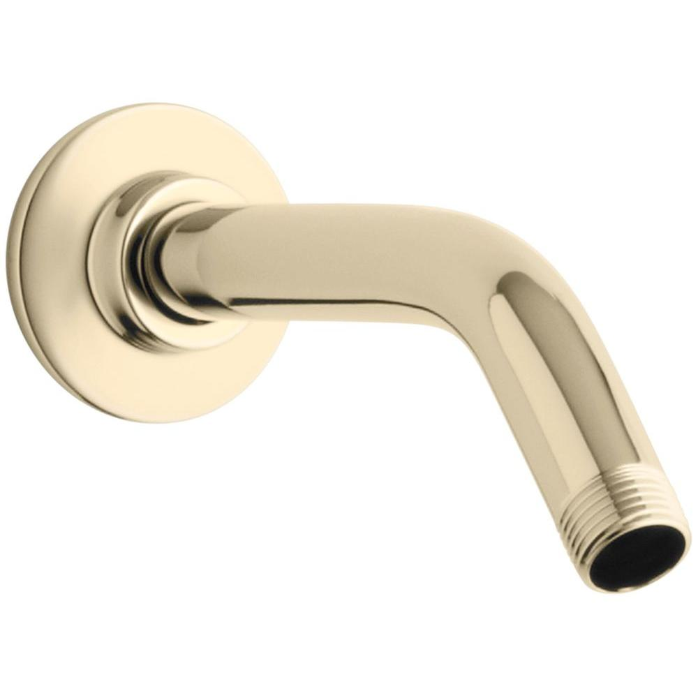 7-1/2 in. Shower Arm and Flange, Vibrant French Gold