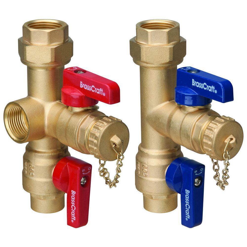 Brasscraft 3/4 inch Sweat x 3/4 inch IPS Tankless Water Heater Service Valves by BrassCraft