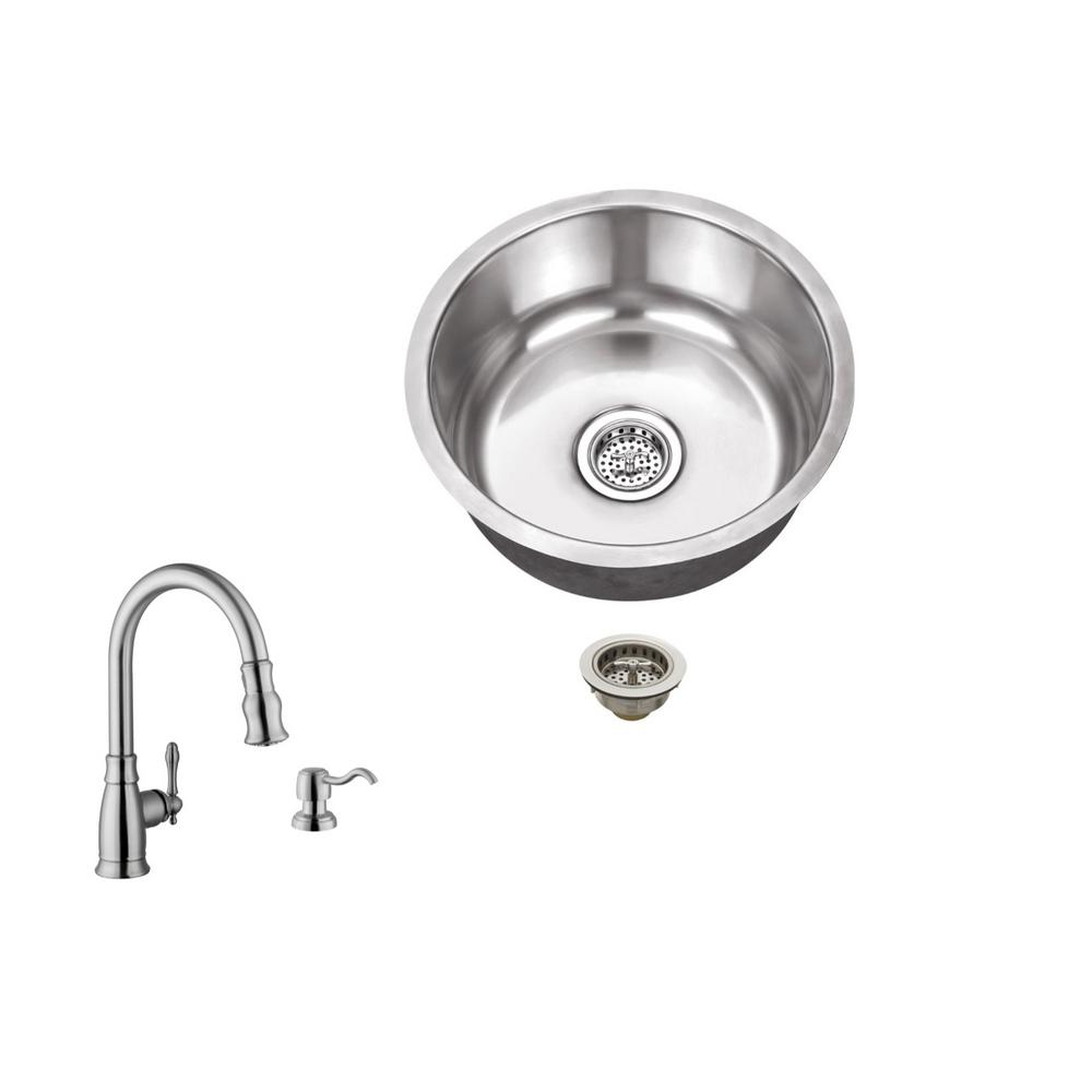 Kohler Vault 15 In X 93125 Stainless Steel Bar Sink K Garbage Disposal Decorator Switch 18 Gauge Brushed