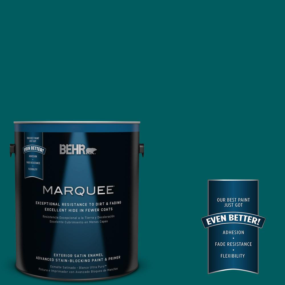 BEHR MARQUEE 1-gal. #S-H-500 Realm Satin Enamel Exterior Paint