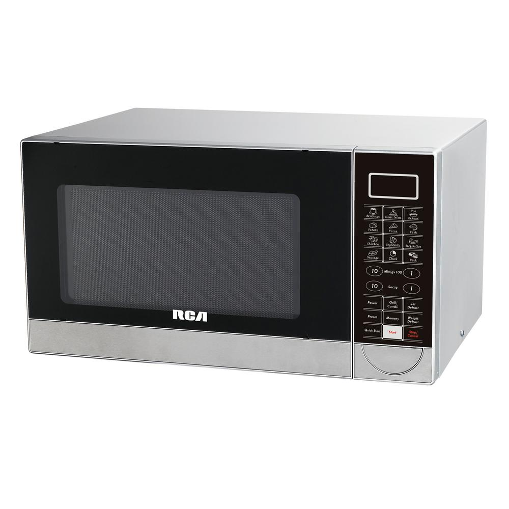 RCA 1.1 cu. ft. Countertop Microwave in Stainless Steel
