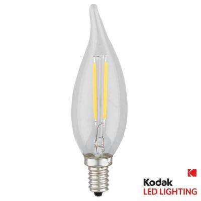 40W Equivalent Warm White E12 Candle Flame Tip Dimmable LED Light Bulb