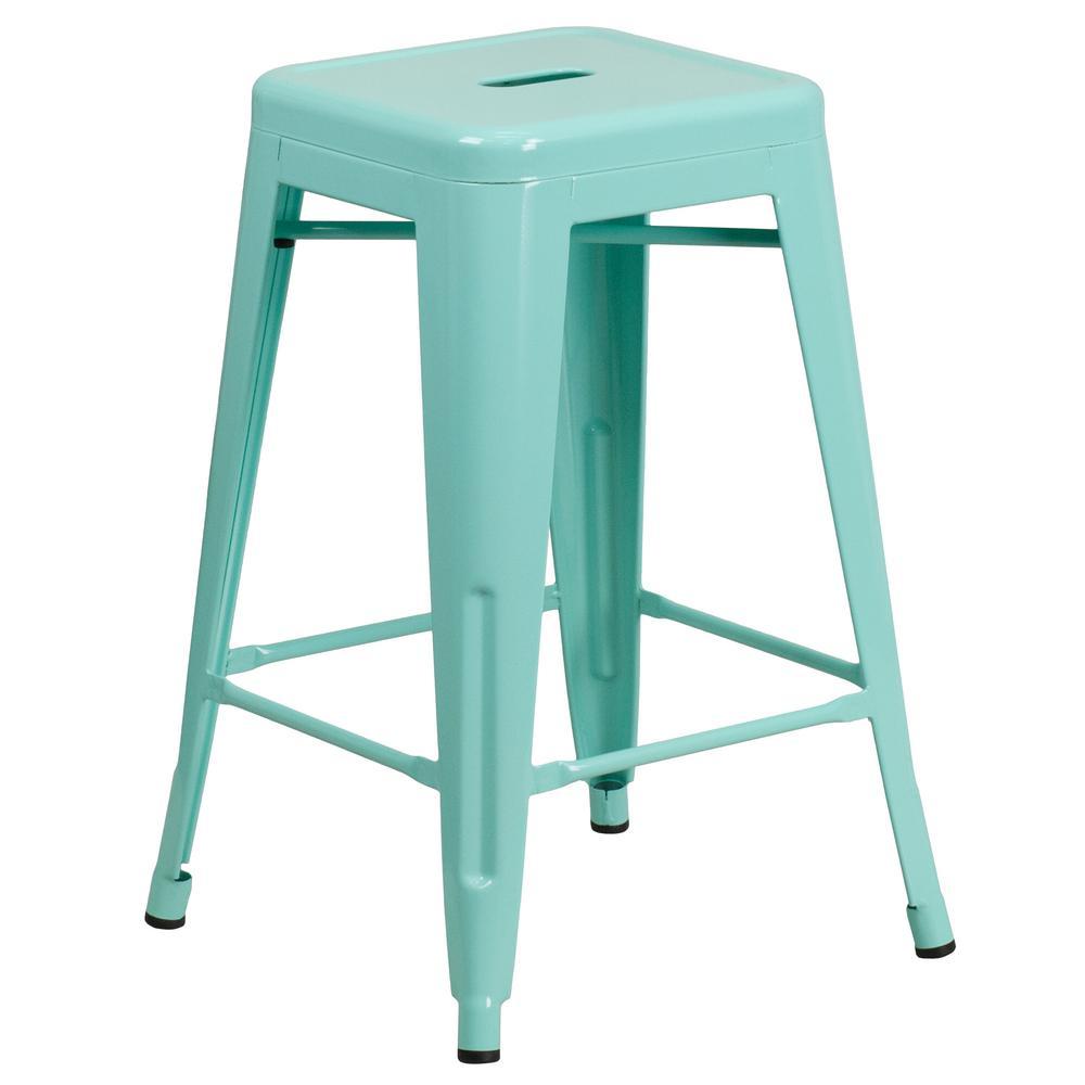 Flash Furniture 24 In Mint Bar Stool