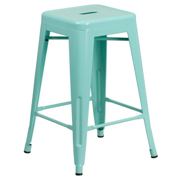 24 in. Mint Bar Stool