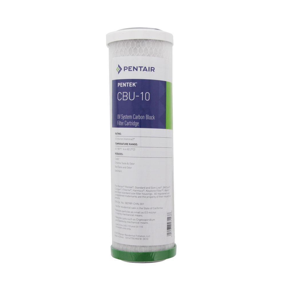 Pentek Cbu 10 9 3 4 In X 2 1 2 In Uv Water Filter Pentek
